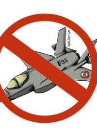 """Riparte l'azione NO F-35: """"Governo e Parlamento non spendano 10 miliardi per nuovi caccia da guerra"""""""