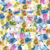 Euro Bills Rich Money Wealth Background