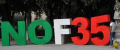 """Campagna NOF35: """"Basta balletto di dichiarazioni, Governo riferisca sul caccia e Parlamento voti stop"""""""