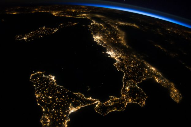 ISS-40_Night_View_of_Italy_(2)