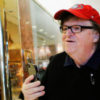 Filmmaker Michael Moore arrives at Republican president-elect Donald Trump's Trump Tower in New York, U.S. November 12, 2016.   REUTERS/Eduardo Munoz