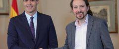 Sánchez e Iglesias pactan subidas de impuestos a grandes empresas y rentas altas