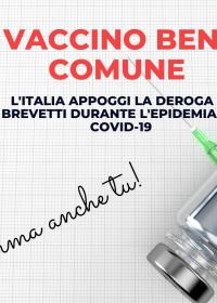 """Vaccino """"Bene Comune""""?"""
